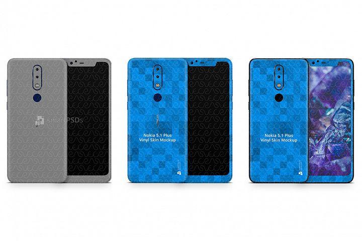 Nokia 5.1 Plus 2018 PSD Skin Mockup Template