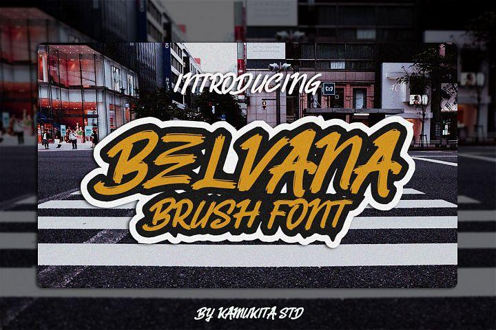 Belvana Brush Font