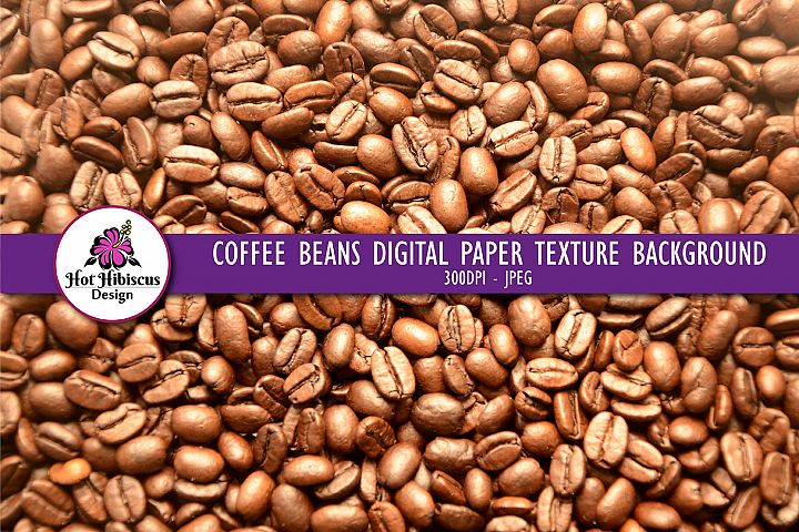 Brown Coffee Beans Texture Pattern Background Food Photo