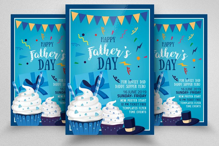 Fathers Day Ice Cream Discount Flyer