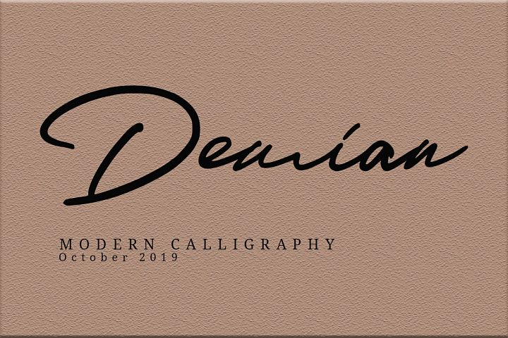 Demian || Modern Script