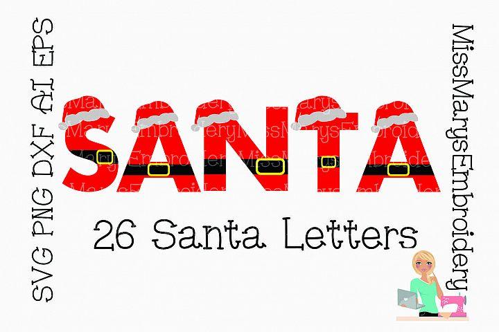 Santa Letters SVG Cutting File