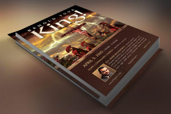 Crucified Christ Flyer Template