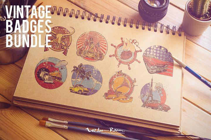 Vintage Badges Bundle