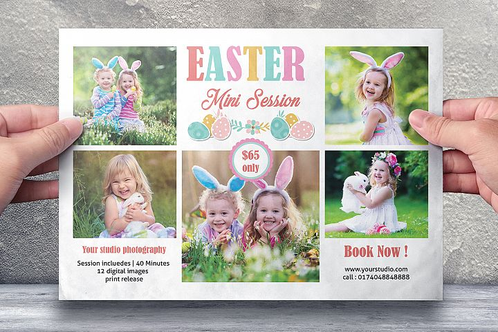 Easter Photography Mini Session Template