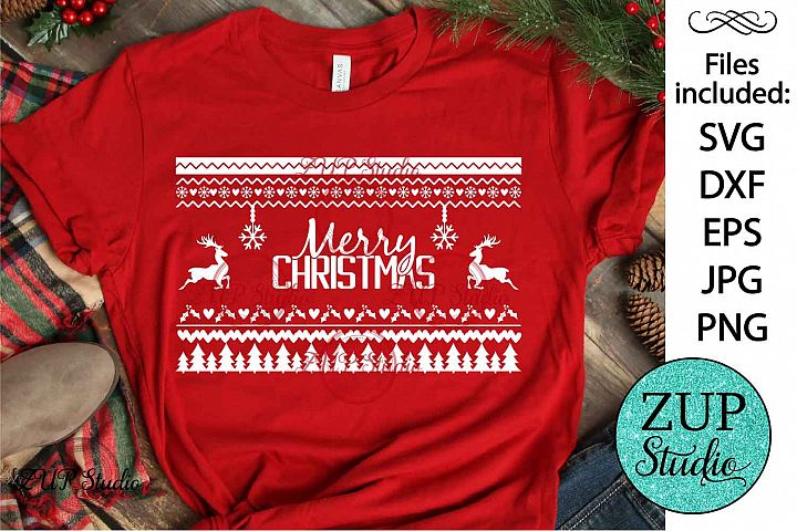 Ugly Christmas Sweater SVG Design Cutting Files 342