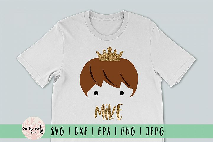 Cute Prince Face - Birthday SVG EPS DXF PNG