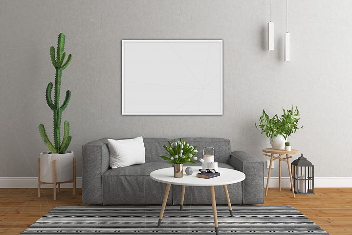 Interior mockup bundle - blank wall mock up