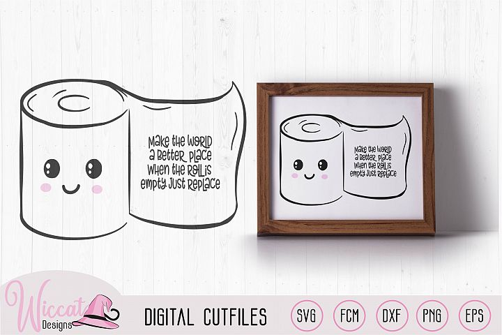 Kawaii toilet paper with rhyme, Cute bathroom rules,