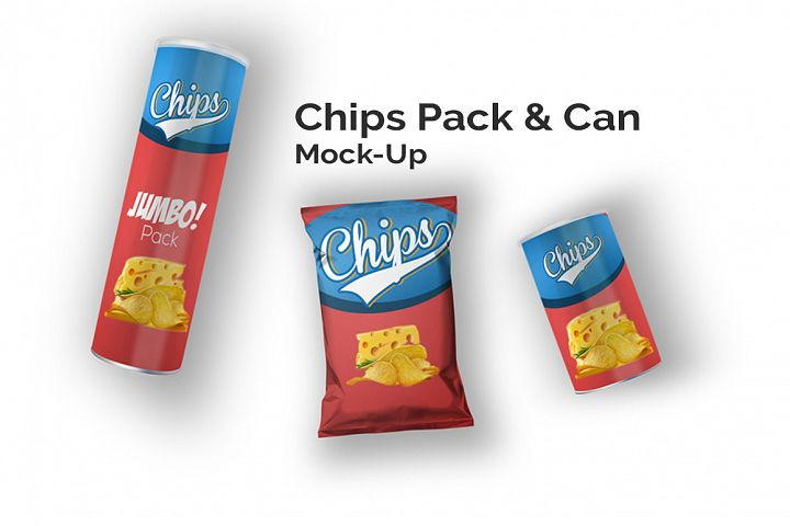 Chips Can & Bag Mock-Up