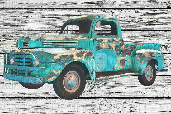Leopard Vintage Truck Sublimation Digital Download