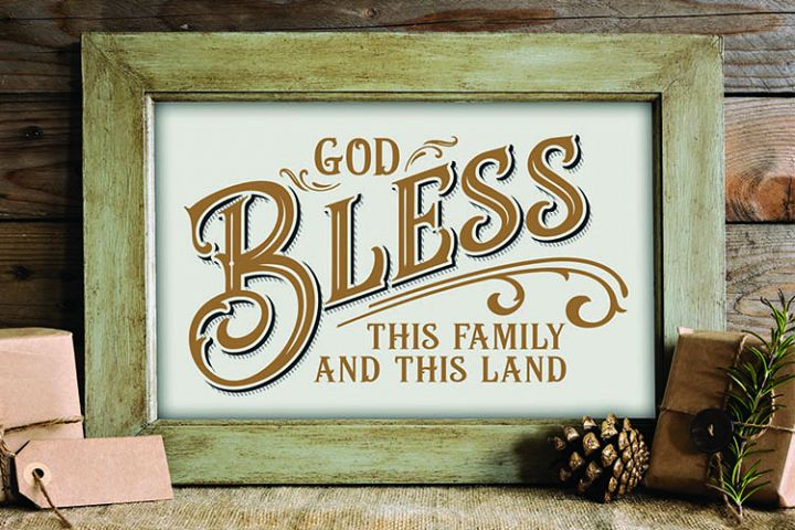 God Bless this family and this land, farmer, rancher
