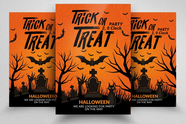 Halloween Trick or Treat Night Flyer