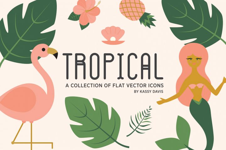 Tropical Vector Icon Collection