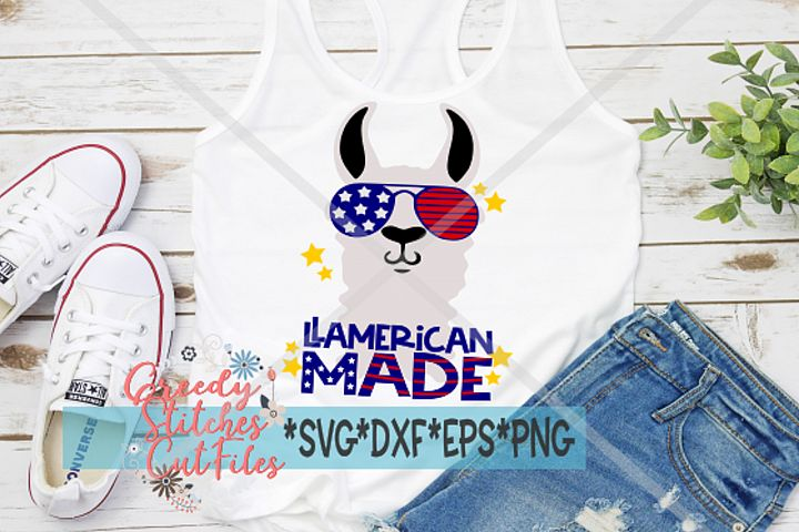 Llamerican Made SVG| July 4th Llama| Independence Day