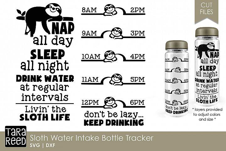 Sloth Water Intake Bottle Tracker