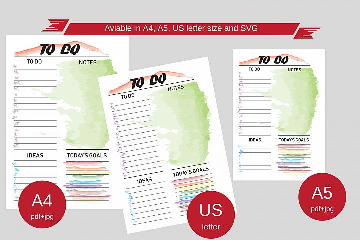 Daily TO DO printable planner, Planner A4 A3 Letter
