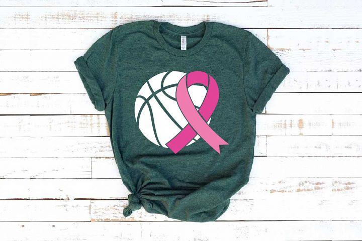 Basketball Tackle Breast Cancer Svg Awareness ribbon 1454s