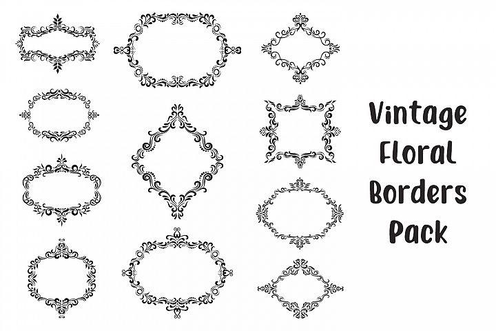 Vintage Floral Frames - Vector