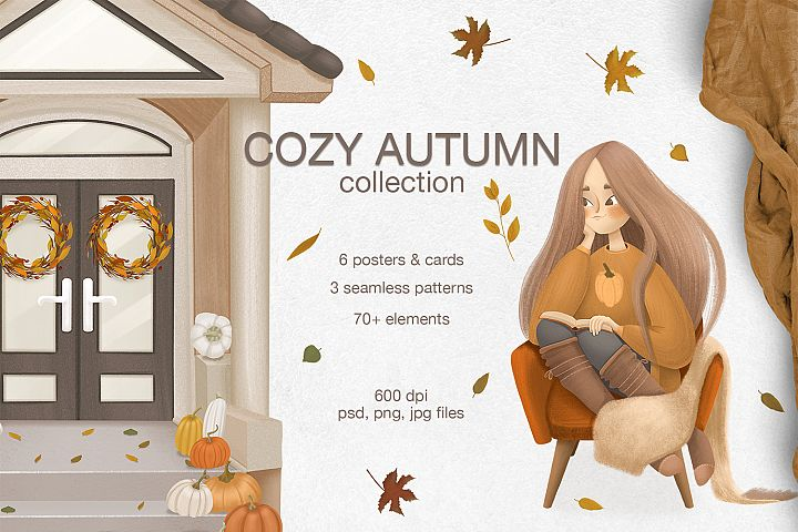 Cozy autumn clipart