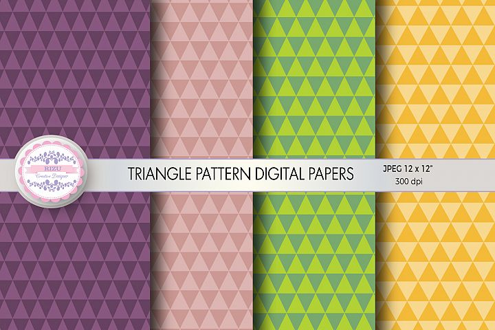 TRIANGLE PATTERN DIGITAL PAPERS