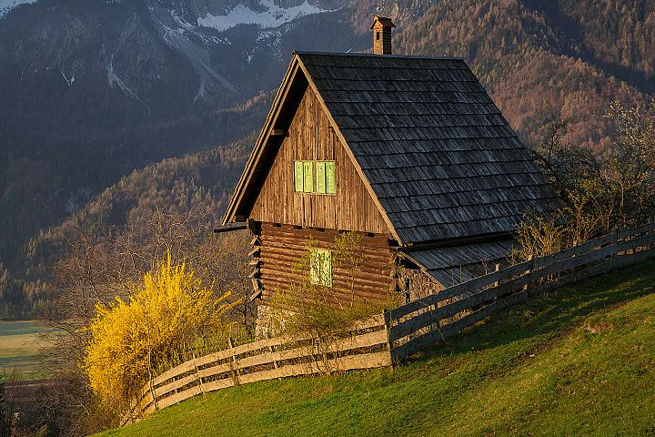 Cottage below the Alps
