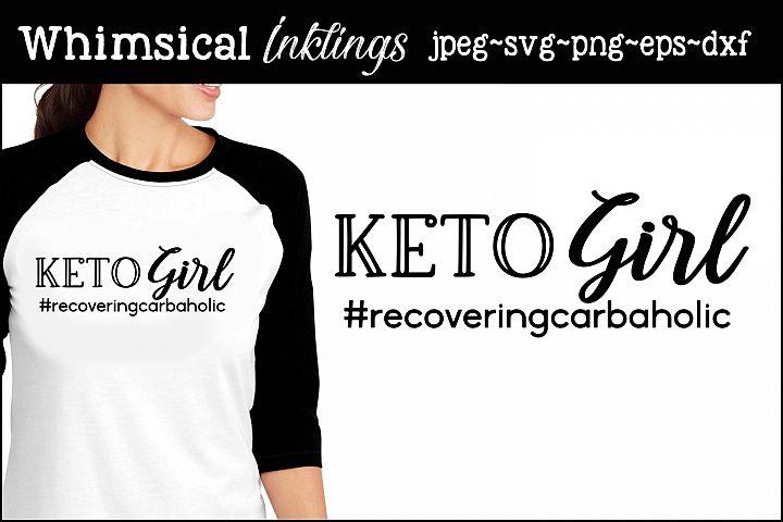 Keto Girl SVG