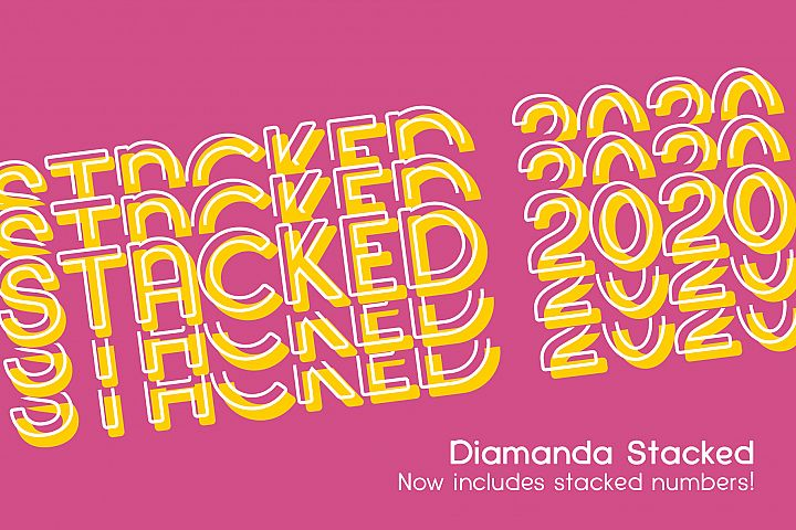 Diamanda Stacked - Retro Font