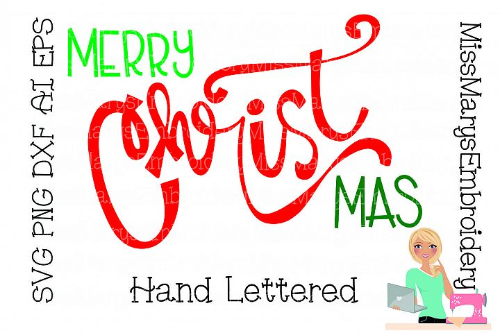 Merry Christ Mas SVG Cutting File PNG DXF AI EPS