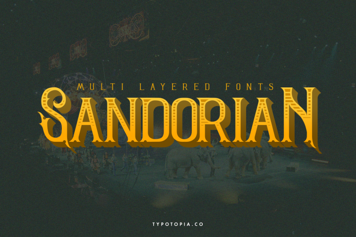Sandorian Multi Layered Fonts