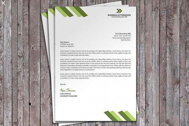 Letter Head Print Template