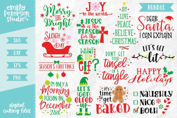 Christmas Bundle 15 Designs Volume 1 SVG DXF EPS PNG