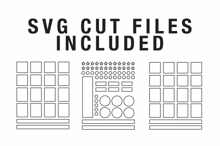 Planner Sticker Cut File Template -- DIY Planner Stickers