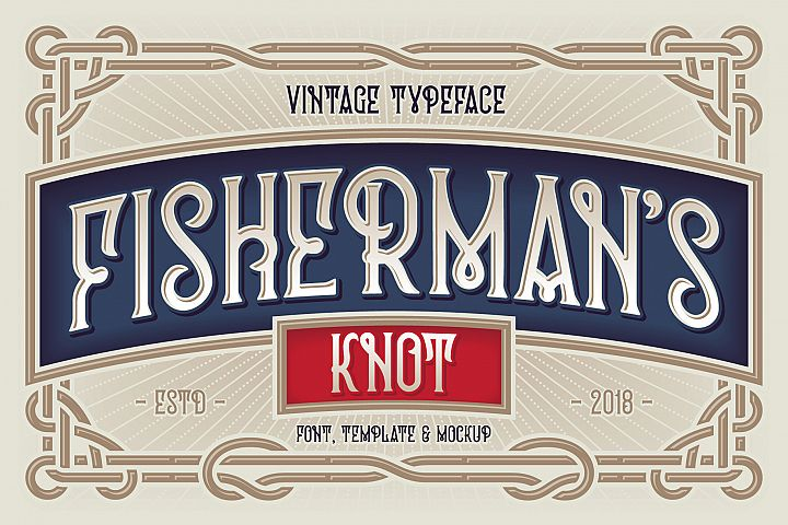 Fishermans Knot. Font & Graphics