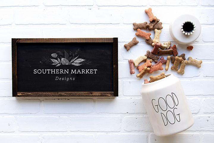 8x20 Wood Sign Dog Mock Up Farmhouse Styled Photo