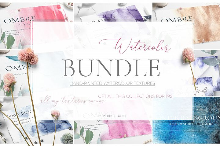 Watercolor Textures Bundle Freebie