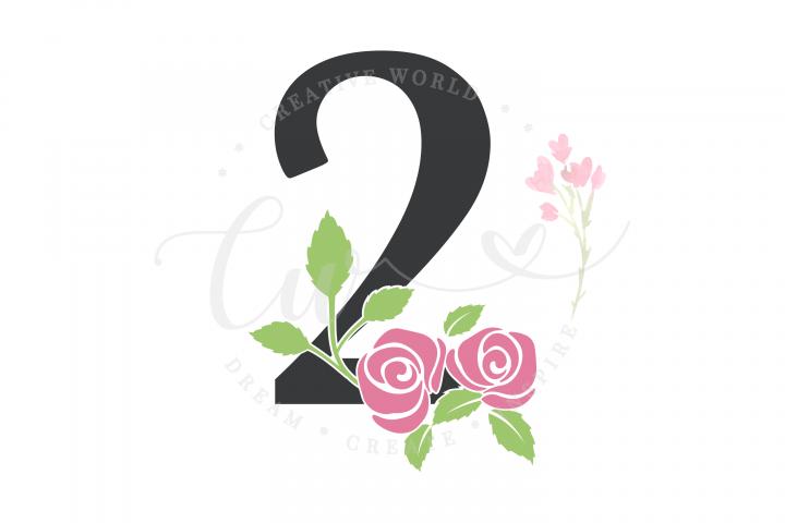 My 2nd Birthday Rose Flower SVG | Birthday Girl svg