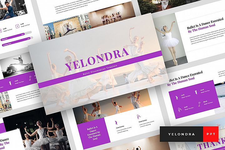 Yelondra - Ballet PowerPoint Template