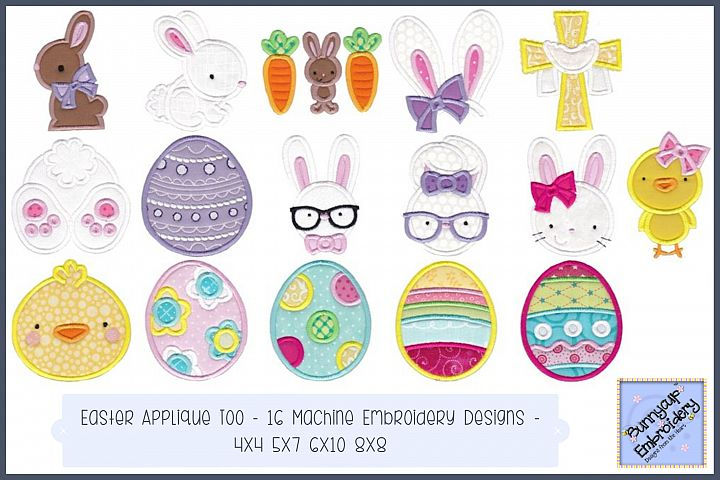 Easter Applique Too - 16 Machine Embroidery Designs