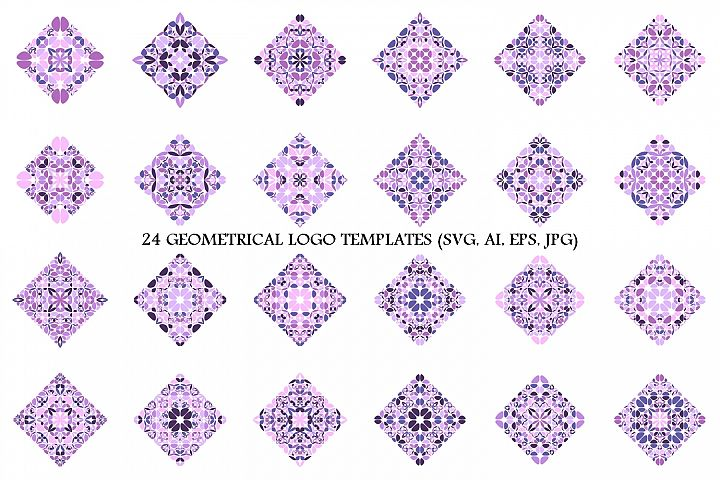 24 Floral Square Logo Templates