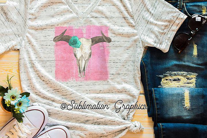 Steer Skull Sublimation Digital Download