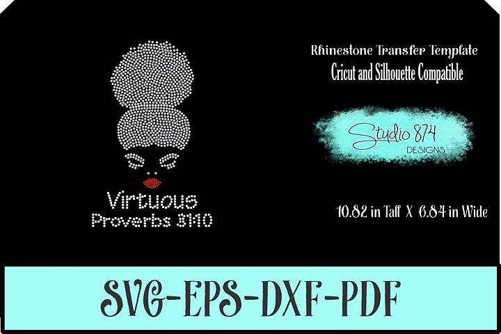 Faith Rhinestone SVG Template - Virtuous