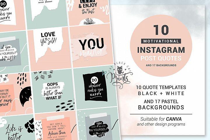 Motivational Instagram Post Quotes Instagram Template Bundle
