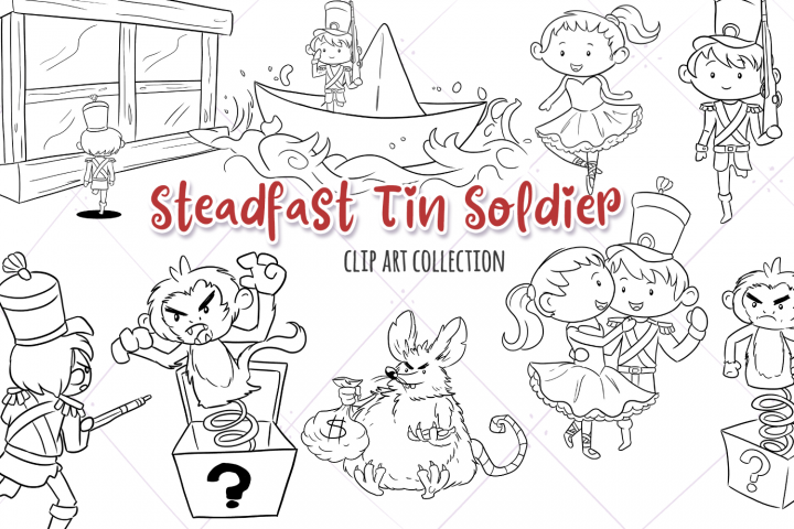 Steadfast Tin Solider Fairy Tale Digital Stamps