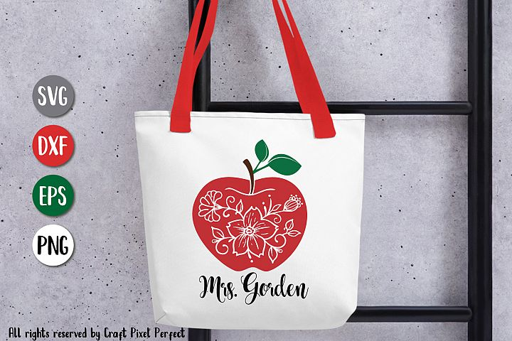 Apple Flourish Svg, Teacher Appreciation Svg