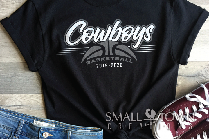 Cowboy, Basketball, Team, Sport, Logo, PRINT, CUT & DESIGN