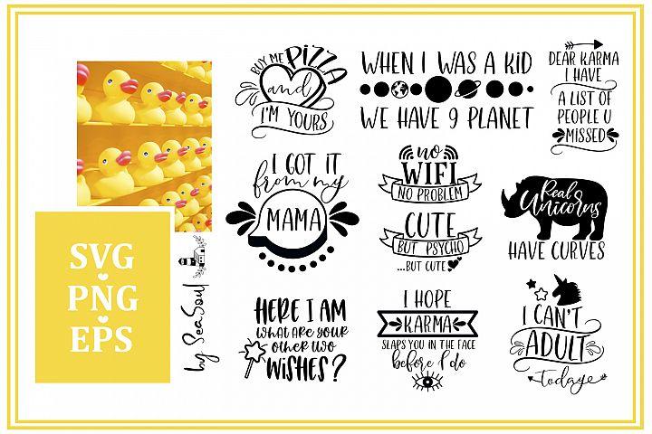 Funny Bundle SVG. Funny designs SVG, EPS, PNG