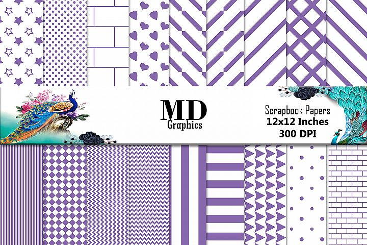 Purple Stripes, Purple Papers, Papers Digital, Downloadable