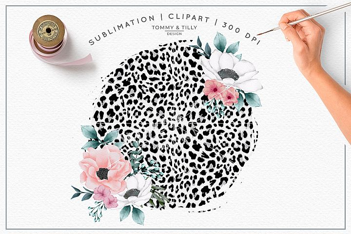 Blank leopard Print Background - Sublimation PNG Clipart