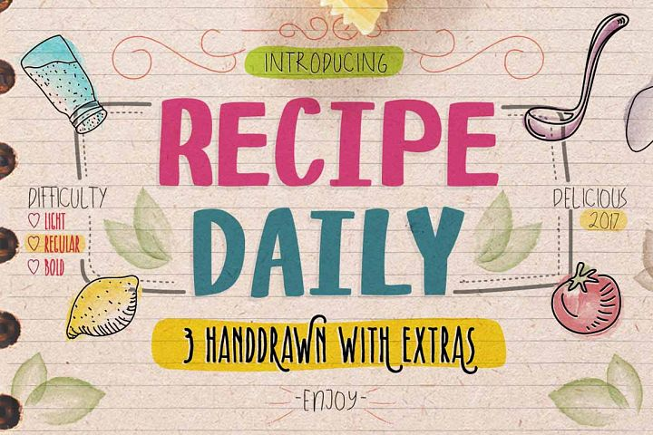 Recipe Daily - Free Font of The Week Font